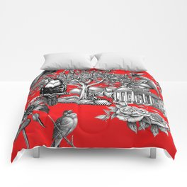 Collage rouge 5 Comforters