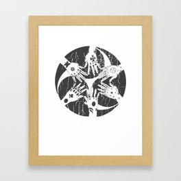 Hidari Gomon and Hajichi - Okinawan Pride - Traditional Tattoo Art Framed Art Print