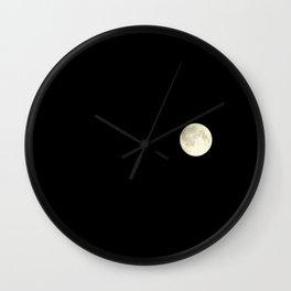 The moon over my balcony Wall Clock