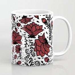 Red Flower Garden Coffee Mug
