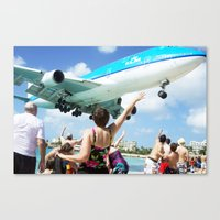 airplane Canvas Prints featuring Airplane! by Noah Bolanowski