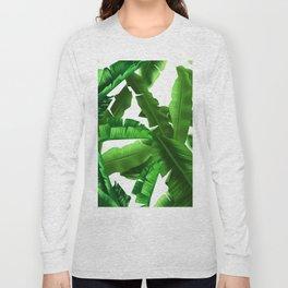 tropical banana leaves pattern Long Sleeve T-shirt
