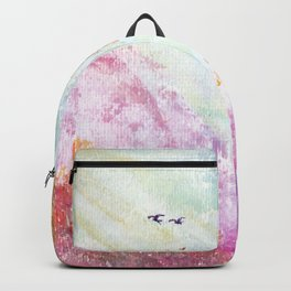 Magical Landscape Watercolor Painting Backpack