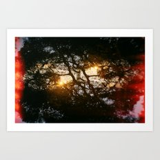 Fractal Trees at Sunset Art Print