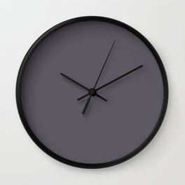 Daydreams Dark Grey Purple Solid Color Pairs To Sherwin Williams Midnight SW 6264 Wall Clock