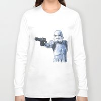 stormtrooper Long Sleeve T-shirts featuring Stormtrooper by KristinMillerArt