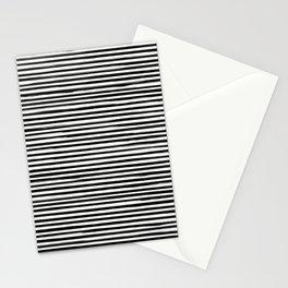 Skinny Stroke Horizontal Black on Off White Stationery Cards