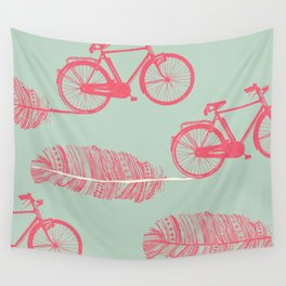 Feather Bike Wall Tapestry