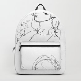 Girl line art Backpack