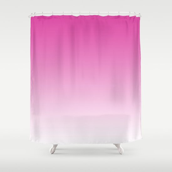 Simply girly pink color gradient mix and match with for Mix and match curtains colors