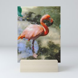 K's Flamingo Mini Art Print