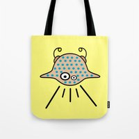 ufo Tote Bags featuring UFO by Joe Pansa