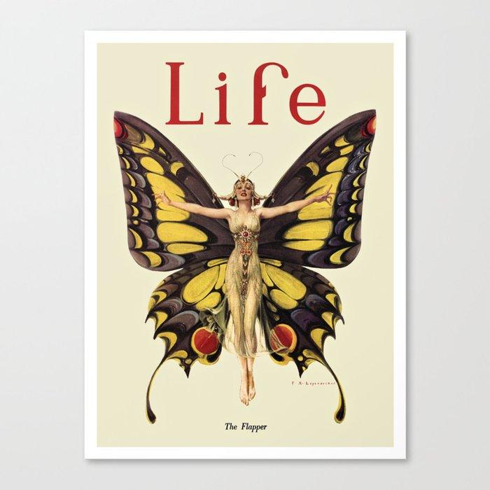 The Flapper by F.X. Leyendecker - Life Magazine Cover Art Print Leinwanddruck