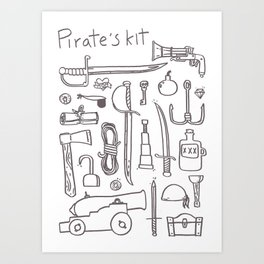 Pirate's Kit Art Print