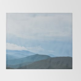 Blue Ridge Mountain Magick Digital Nature Landscape Photography Throw Blanket