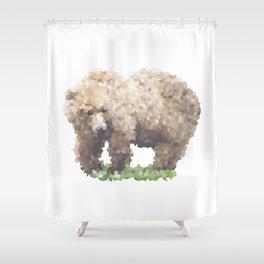 Penrose Tiling Bear Shower Curtain