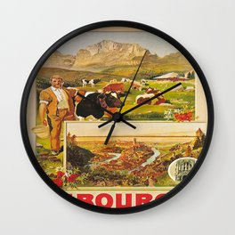 Vintage poster - Fribourg Wall Clock