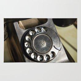 Retro rotary dial telephone Rug