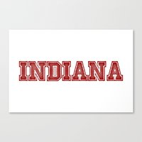 indiana Canvas Prints featuring Indiana by Lexi Designs