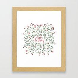 Watercolor Mistletoe Framed Art Print