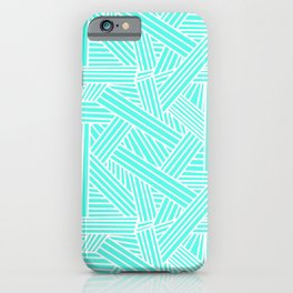 Sketchy Abstract (White & Turquoise Pattern) iPhone Case