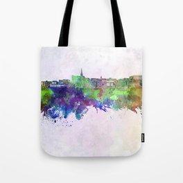 Geelong skyline in watercolor background Tote Bag