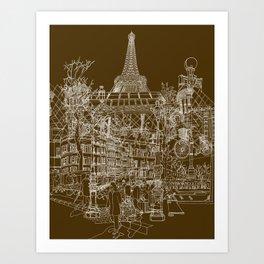 Paris! Art Print