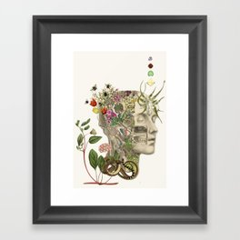 master of my own mind - anatomical art by bedelgeuse Framed Art Print