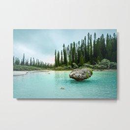 Remote Corner of Paradise at Isle of Pines, New Caledonia. Metal Print