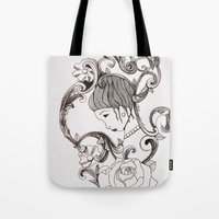 mirror Tote Bags featuring Mirror by Bake