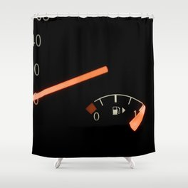 Fuel Gauge, Full Tank, Car Fuel Display Shower Curtain
