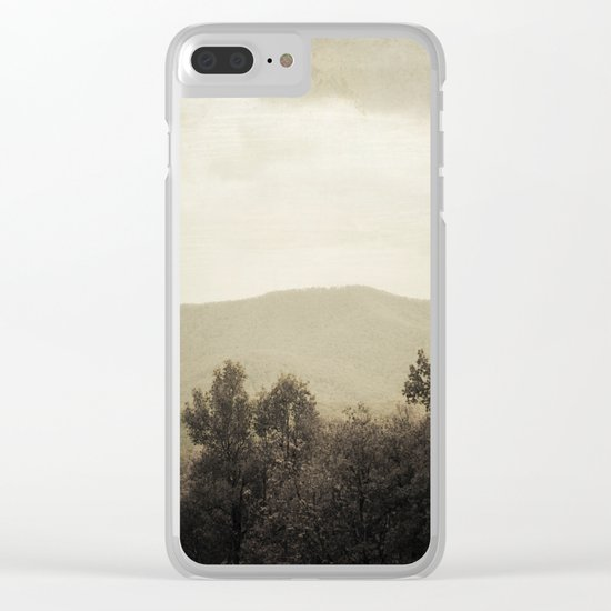 Mountain Wilderness Clear iPhone Case