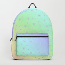 Small decent butterflies in delicate rainbow colors Backpack