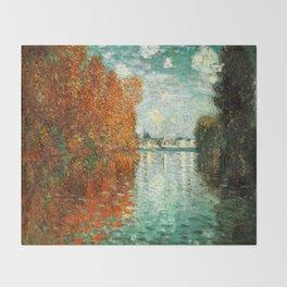 Monet : Autumn Effect at Argenteuil Throw Blanket
