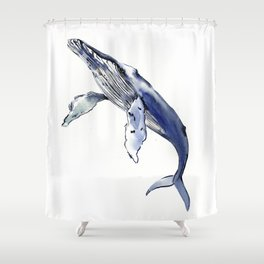 Humpback Whale, whale sea world desocr whale home decor florida beach Shower Curtain
