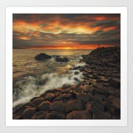 Basaltic Sunset Art Print