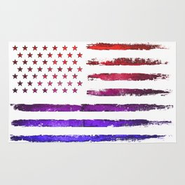 Colorful American flag Rug