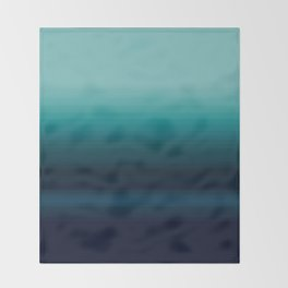 Teal to Indigo Ombre Design Throw Blanket