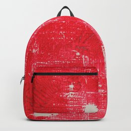 textured abstract in red Backpack
