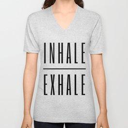 Inhale. Exhale. Unisex V-Neck