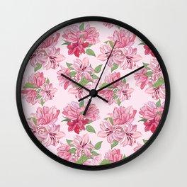 Lili Flowers pattern Wall Clock