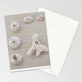 Seashells and urchins design Stationery Cards