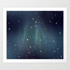Aurora Stars Art Print