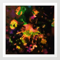 abstract 005. sunset Art Print