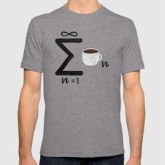 Infinite Coffee LARGE Tri-Grey Mens Fitted Tee