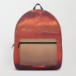 Sweet Pink Orange Sunset Backpack