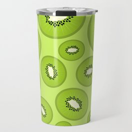 Kiwi Fruit Pattern Travel Mug