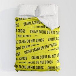 Crime Scene Tape Pattern Comforters