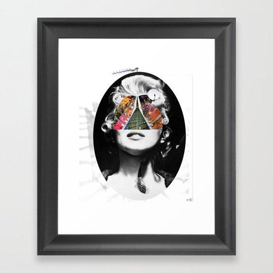 Marilyn, Hugo and Me Collage Framed Art Print