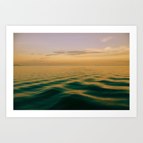 On Green Waters Is Where I Lie Art Print